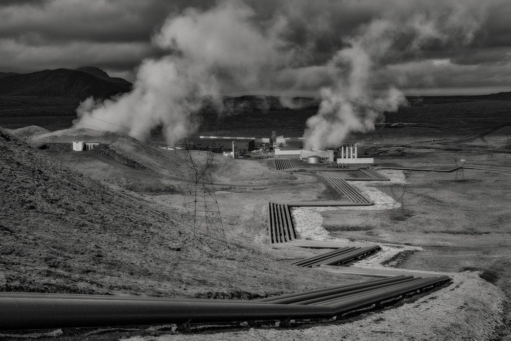 Overview Nesjavellir Geothermal Power Plant, Iceland