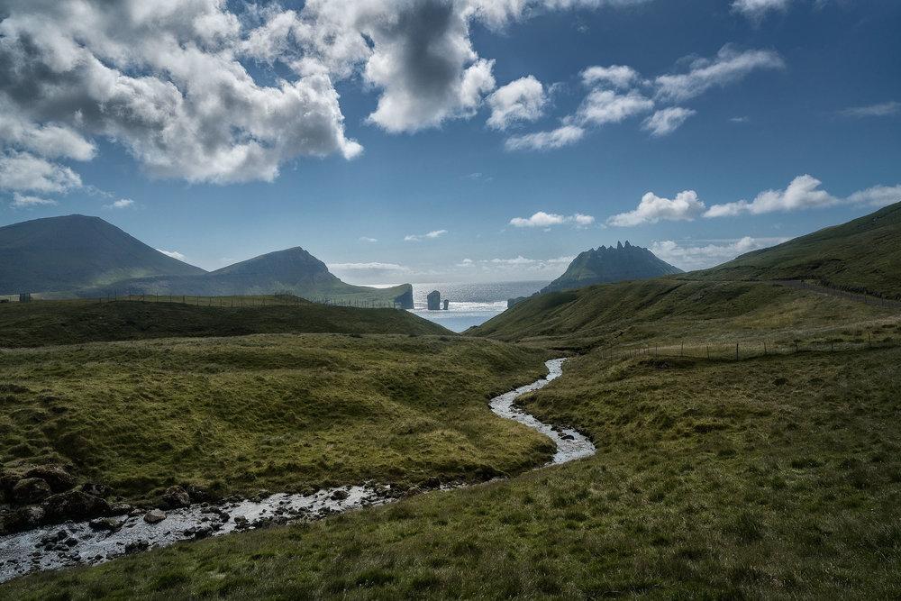Creek near the village of Gásadalur, Faroe Islands