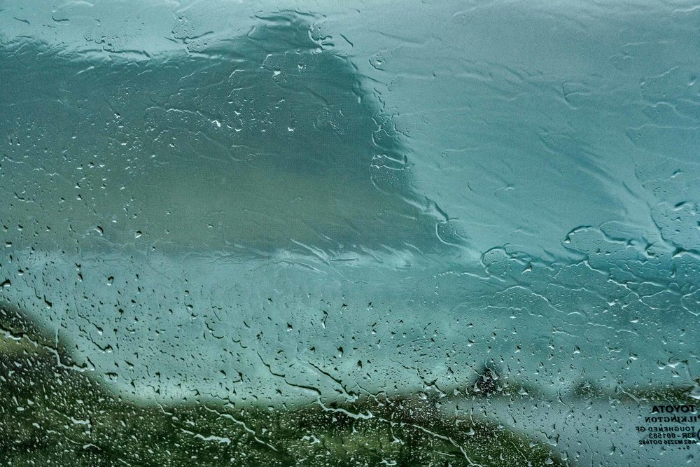 This photo was made, while sheltering in my car from    heavy rain and gale force winds   , in the town of    Vidareidi   , the northernmost settlement in the    Faroe Islands   .