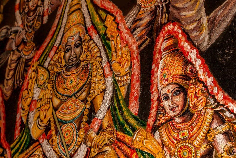 Hindu Mural, Madras Kali Bari Temple, Chennai