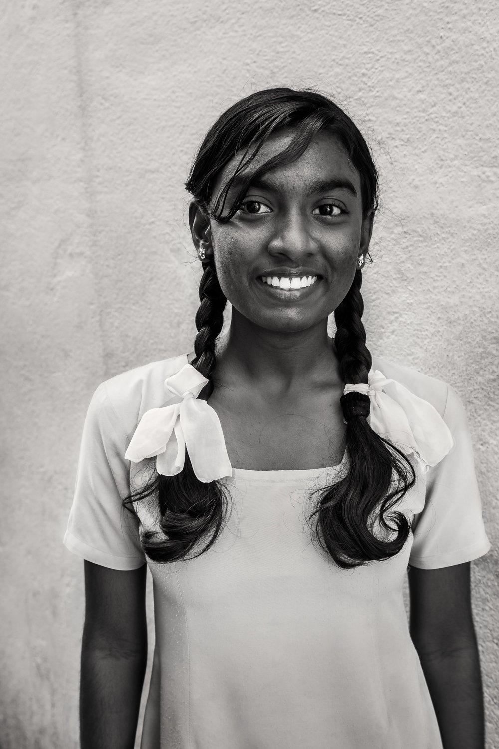 Young Woman with Ribbons, Chennai, India