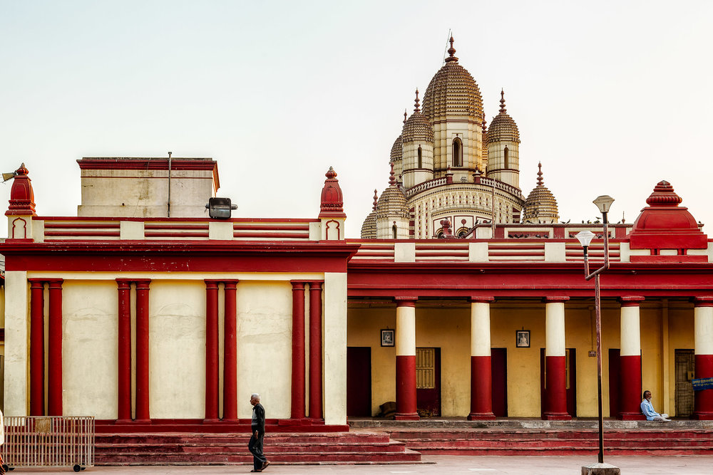 Hindu Temple at Day's End, Kolkata, India