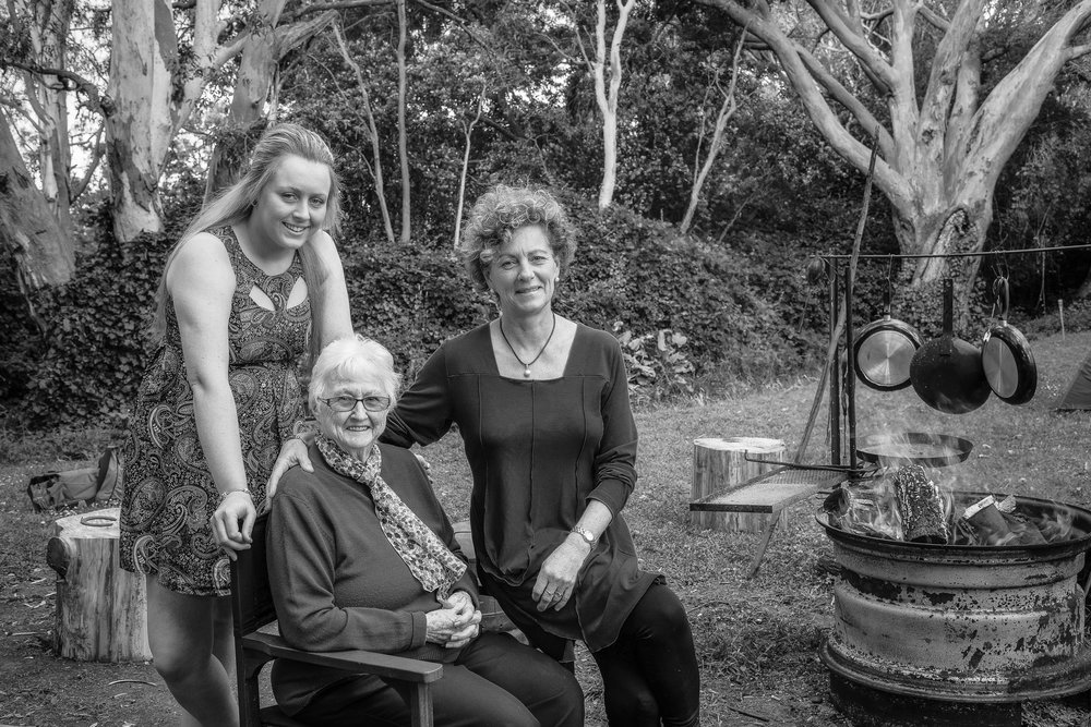 Three Generations of Women in Hamilton, Australia.