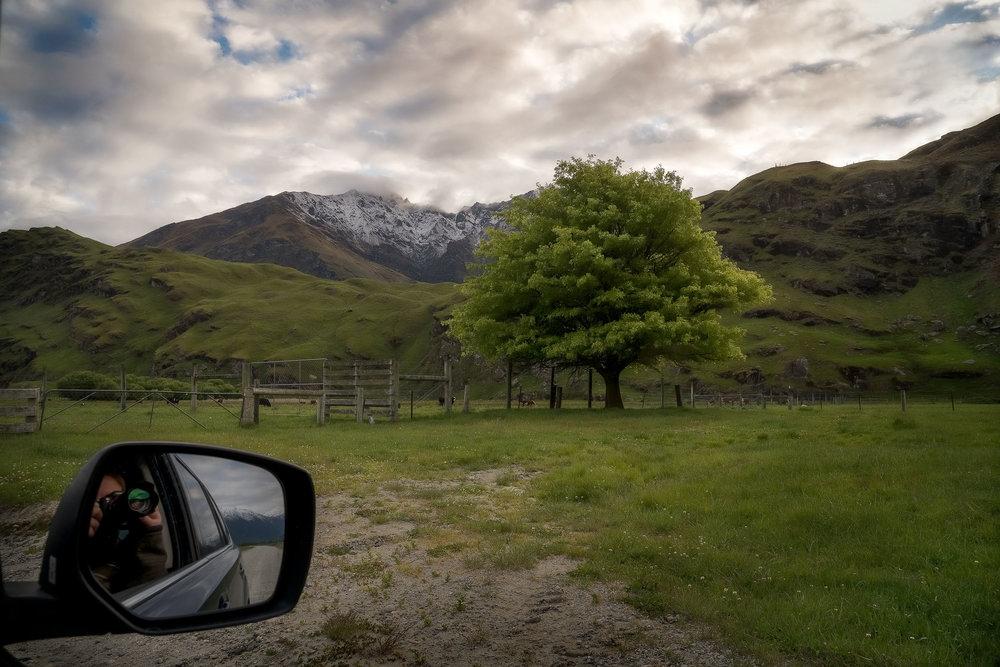 A  self portrait  of  Glenn Guy, the Travel Photography Guru , on the  Mt Aspiring Road  near  Wanaka, New Zealand .