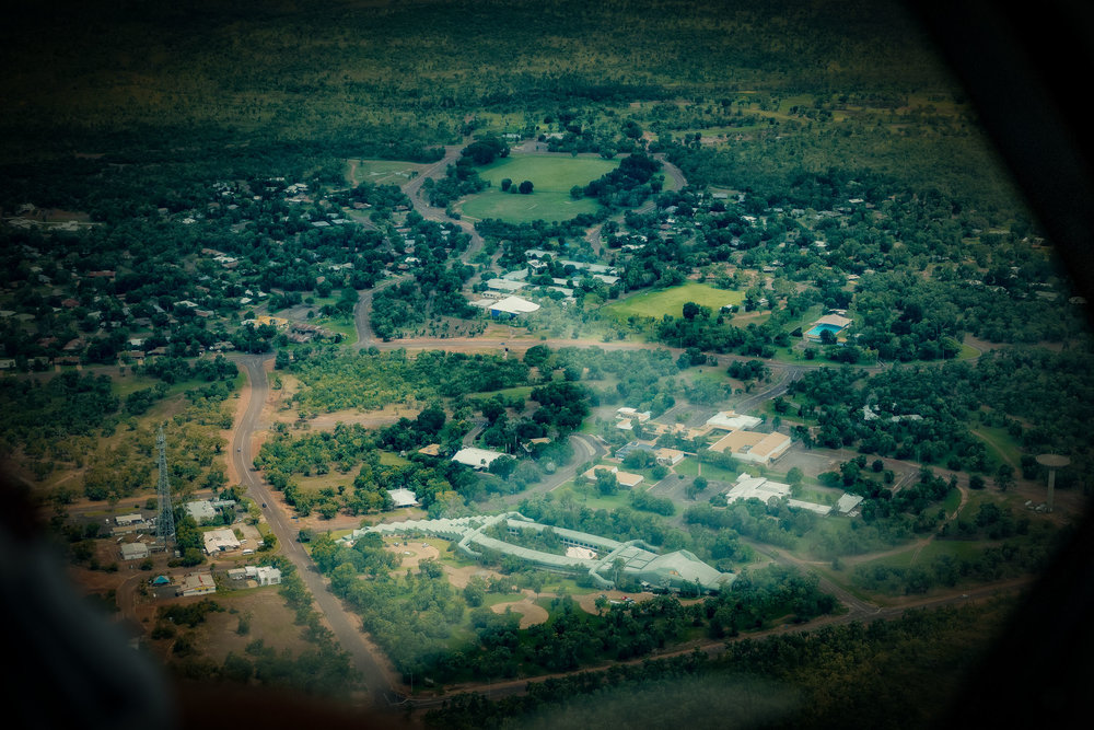 Aerial view  of the  Mercure Kakadu Crocodile hotel  in the town of  Jabiru  just outside the northern boundary of the  Kakadu National Park, Australia