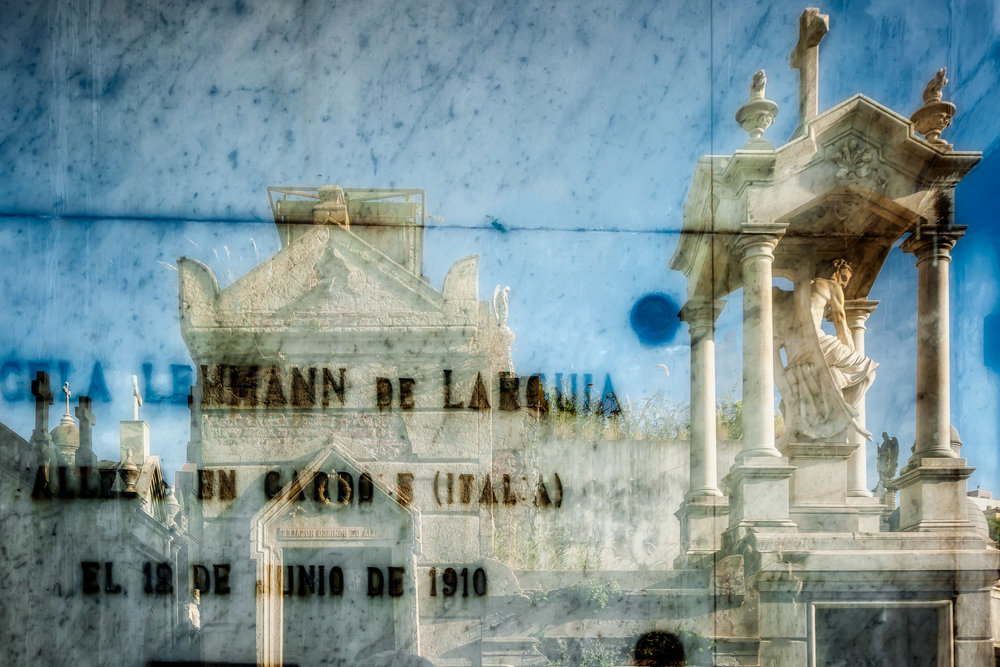 An abstract image made at the incredibly beautiful La Recoleta Cemetery in Buenos Aires, Argentina.