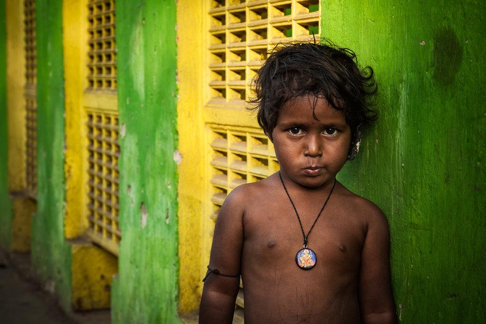 Child, Railway Station, Kolkata, India