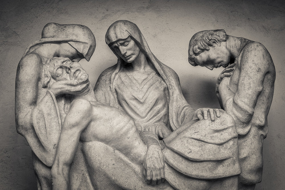 Mourning, St. Sebastian's Cemetery, Salzburg, Austria