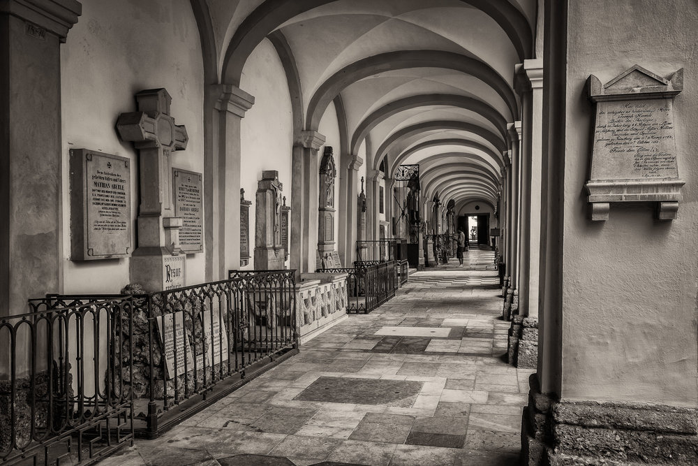 Corridor, St. Sebastian Cemetery, Salzburg