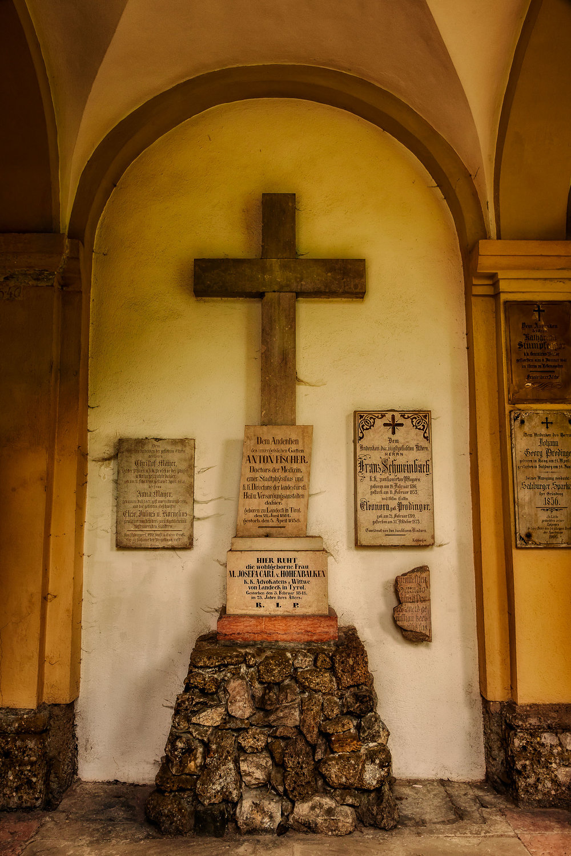 Crucifix, St. Sebastian's Cemetery, Salzburg, Austria