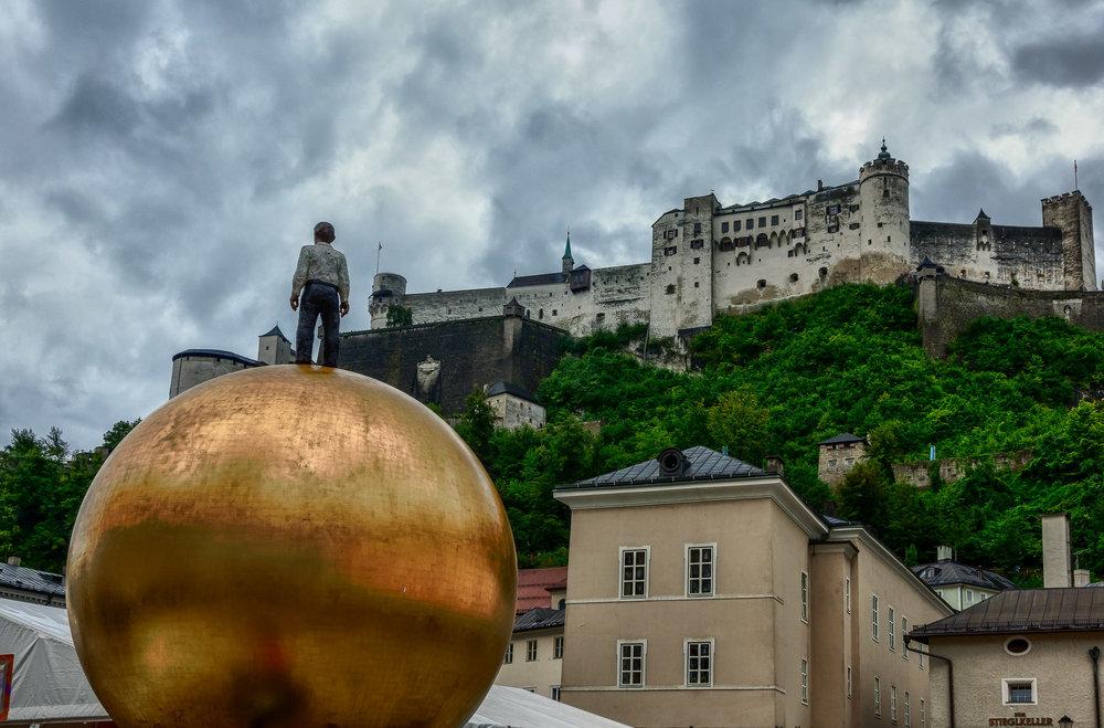 Dramatic View Hohensalzburg Fortress, Salzburg, Austria