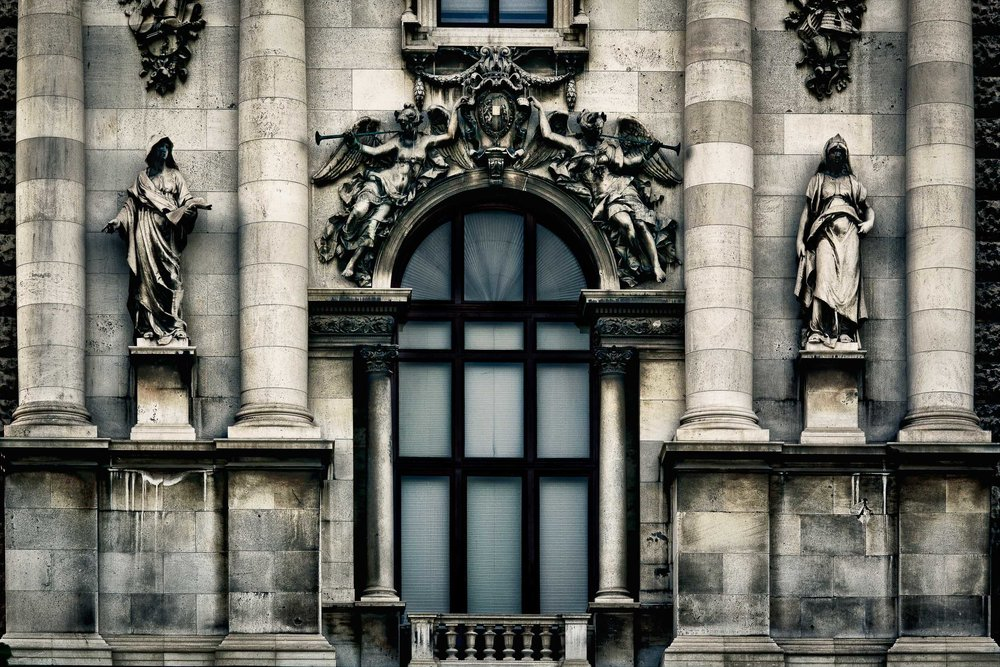 Facade, Parliament, Vienna, Austria