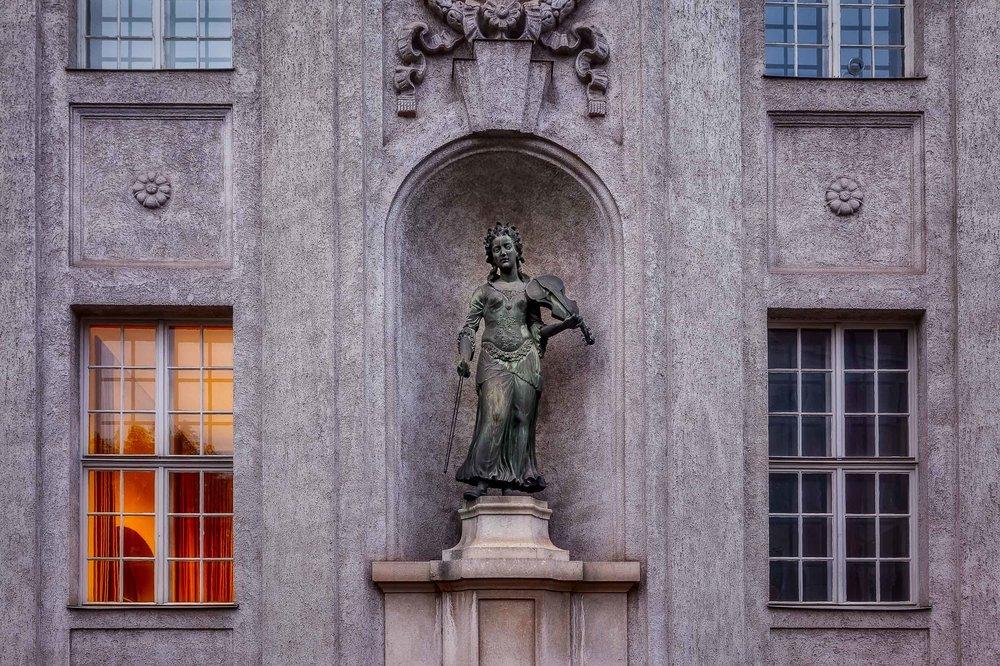 Statue, Mirabell Gardens, Salzburg, Austria