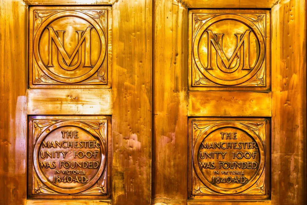 Lift Door, Manchester Unity Building, Melbourne