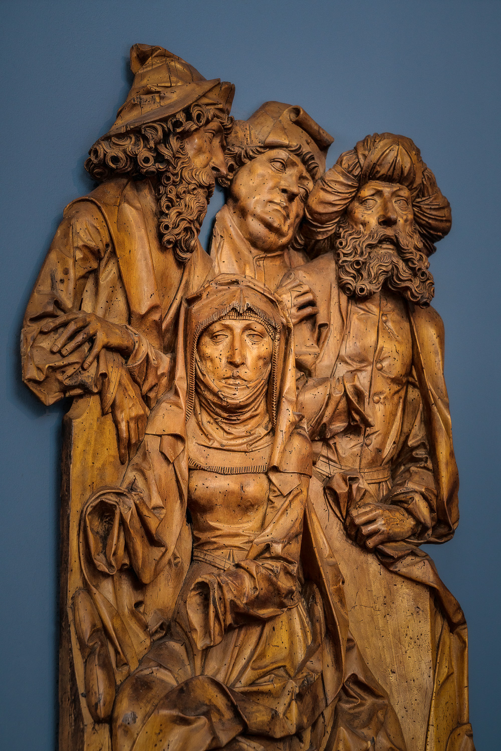 A  sculpture  of a group of figures at the  Bode Museum  in  Berlin, Germany  suggests, to me,  intrigue and politics .
