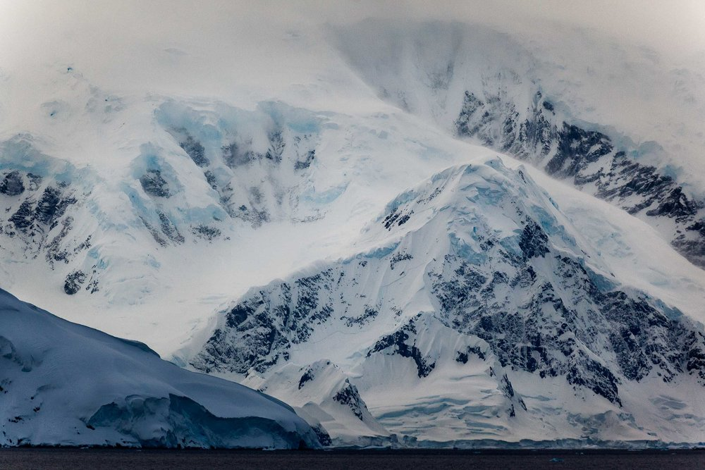 The dramatic and harsh beauty of Cuverville Island, Antarctica.