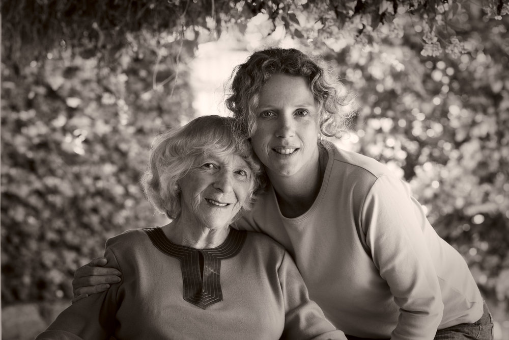 A portrait of my sister    Gabrielle Luhrs    and my mum,    Mary Guy   , on a sunny day under the verandah at home.
