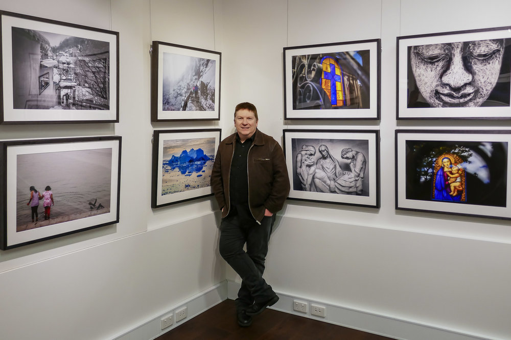 Glenn Guy   , the    Travel Photography Guru   , at his    Moments Of Transition    exhibition at Quadrant Gallery in Melbourne, Australia.