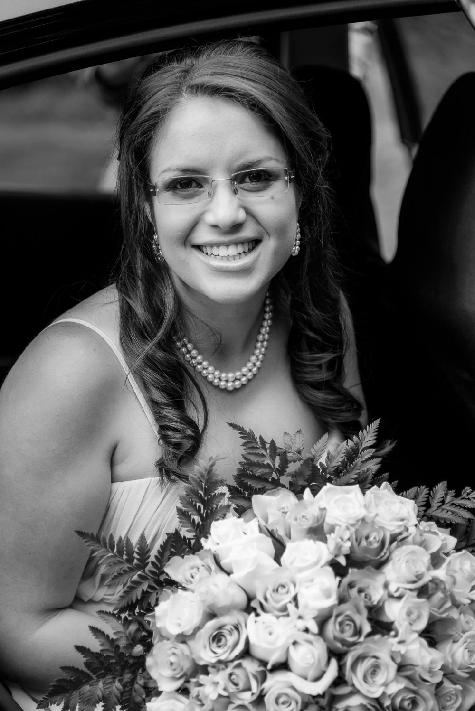 Bride Arriving At Her Wedding