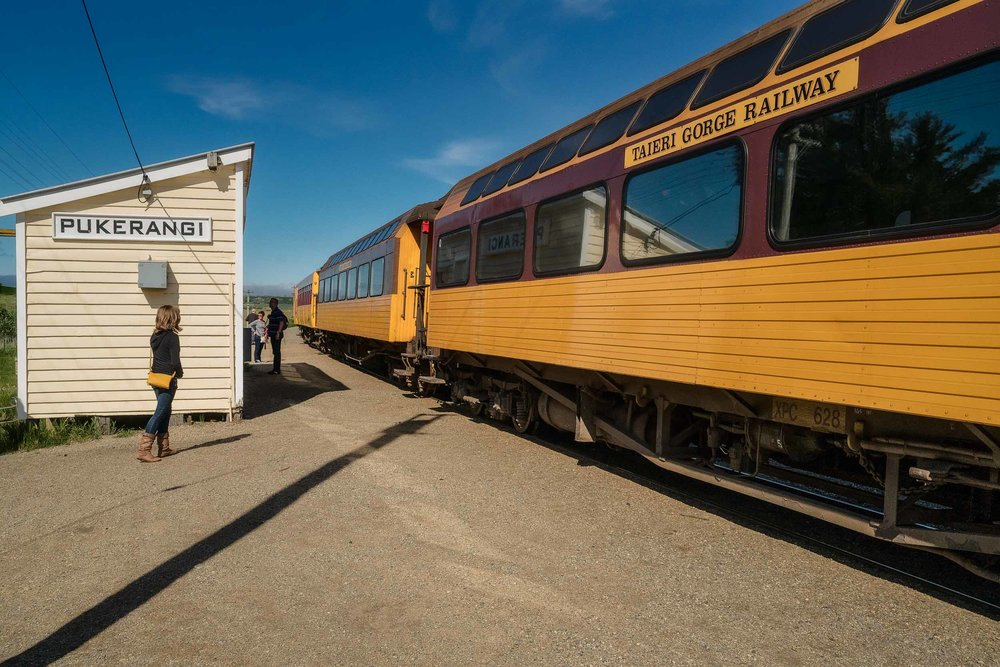 A quick stop for a walk around and some photos at    Pukerangi    along the    Taieri Gorge Railway Line    near    Dunedin    in    New Zealand   .