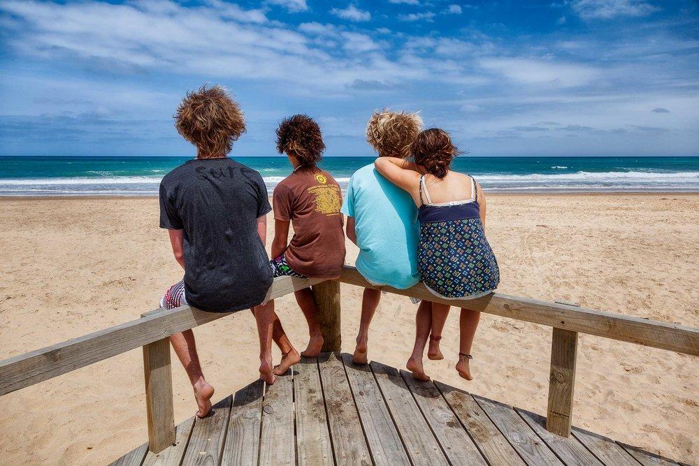 The    essence of friendship    on the beach at    Seaspray, Australia   .
