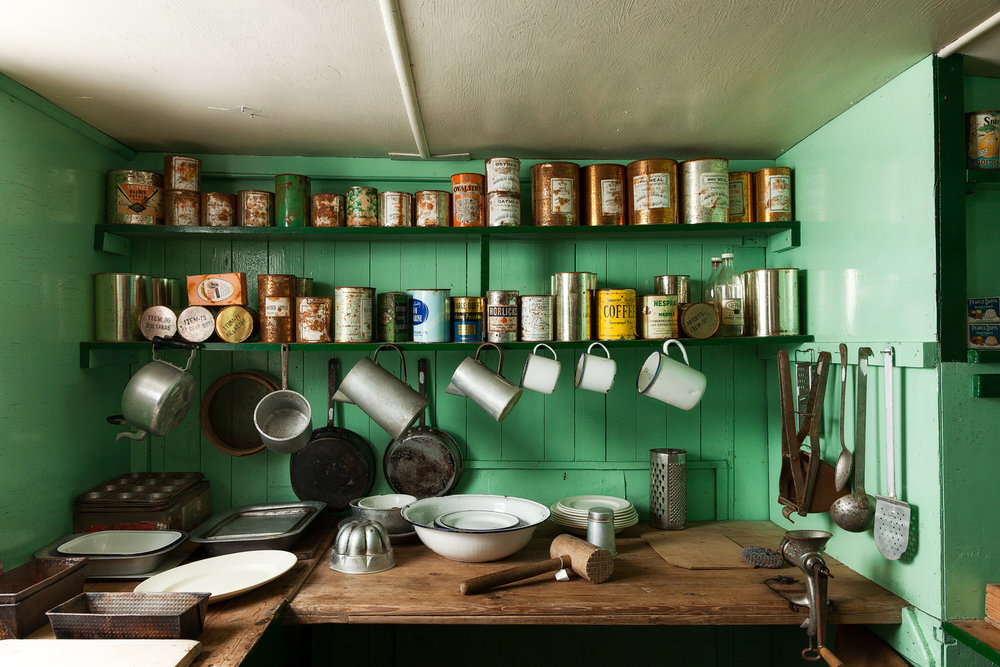 What We Leave Behind, Antarctica. The kitchen in the historic research station at    Port Lockroy    in    Antarctica   .
