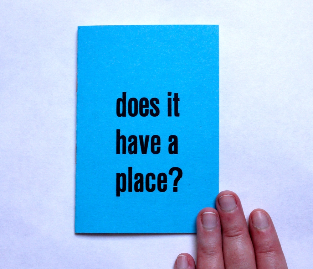 Does It Have a Place? (2015)