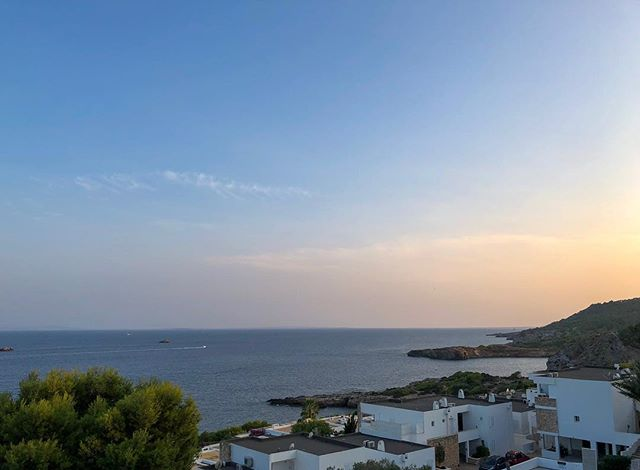 View from the bedroom. #ibiza This week is not going to suck. #bornpacked #spain #sunset #islandlife