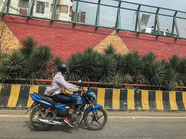 Pit-stop in New Delhi, India for 22 hours. Totally normal. #NOT #india #bornpacked #delhi #newdelhi #motorcycle #moto #commute