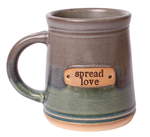 My favorite item is the coffee mug. Maybe because I am a coffee addict, or maybe because I love the message. Love is the only thing that will fix this world's ailments and we should spread it, always, no matter what. It isn't easy loving broken people, but we are all broken in someway or another and needing love. Let the mug be your daily reminder to love always.