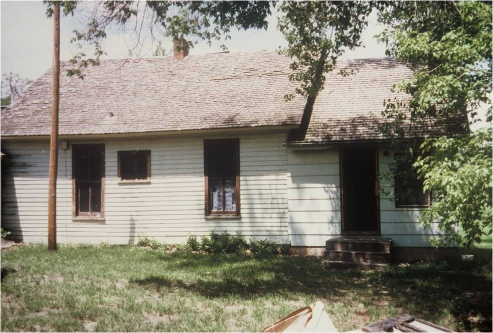 Superintendent's house, before roof repair, 1990