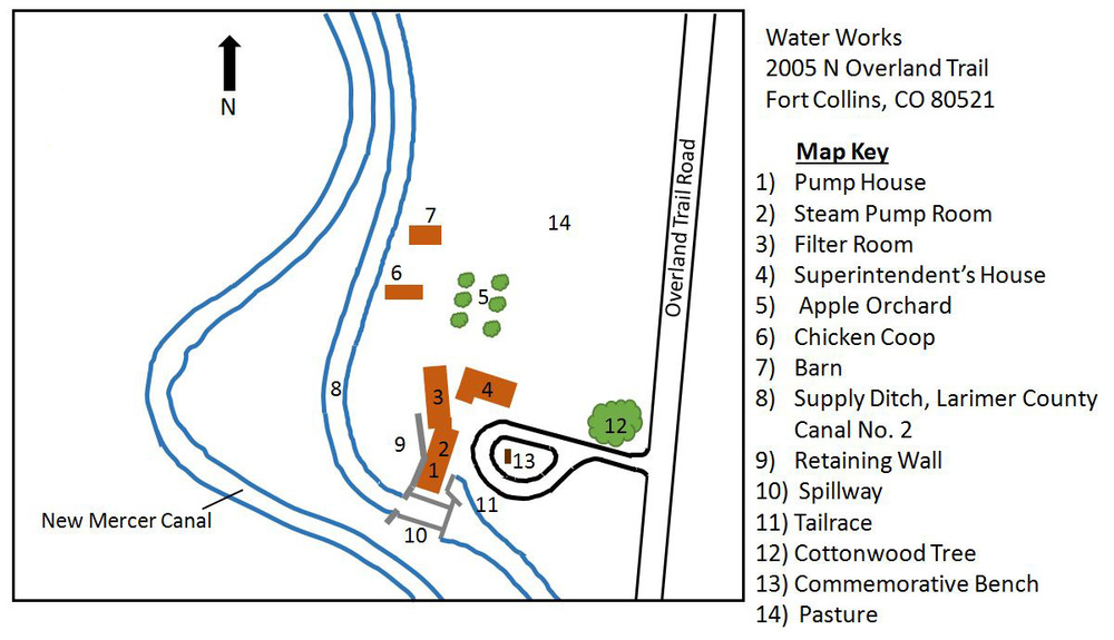 Map of the 23-acre fort collins water works property (click to enlarge)