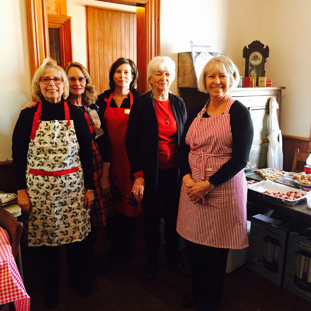 Holiday Tea volunteers