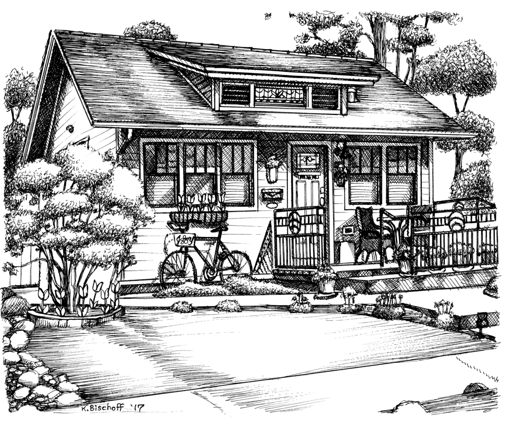 Historic Homes Tour Sketch 2017