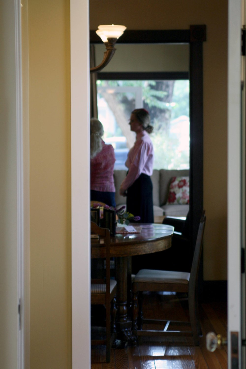 Tour attendees walk through a historic home on Smith Street in Fort Collins