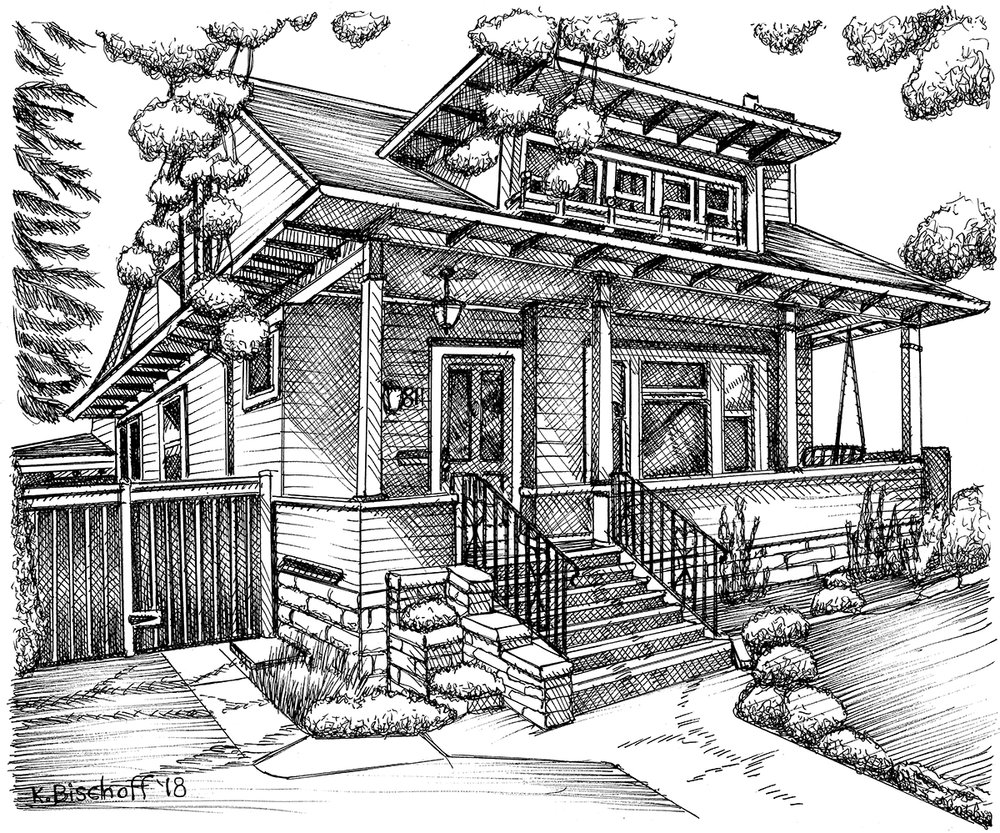 Drawing by Kathy Bischoff