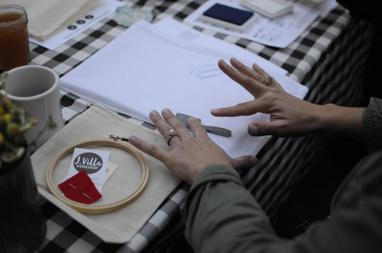 Embroidery Workshop with J. Villa Workshop at Ravenswood — Bang Bang ...