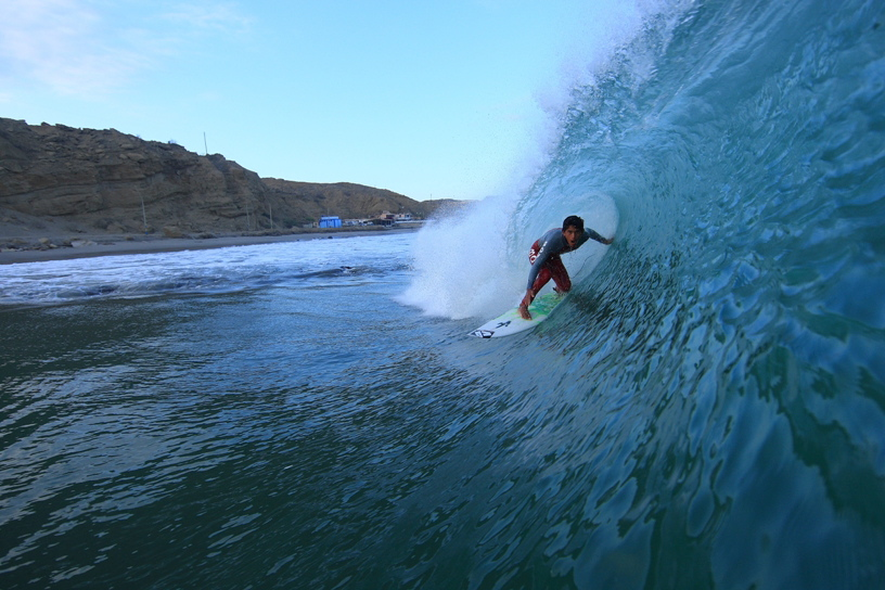 Joaquin pulling into a  northern Peru tube.