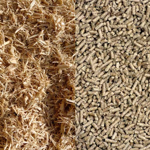 Wood pellets macro
