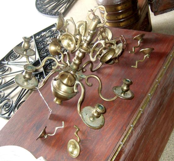 Dutch 18th Century Brass Candelabra