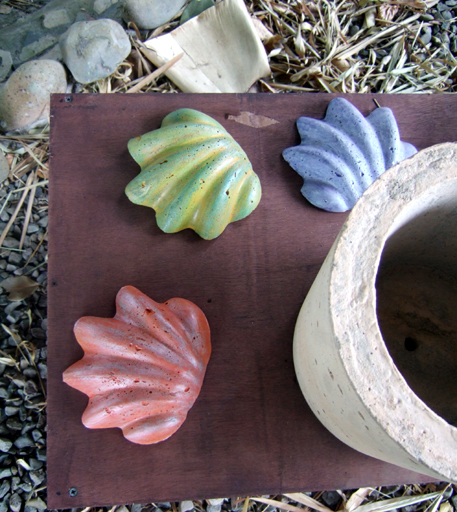 "Decorative Concrete shells -5"" x 5"""