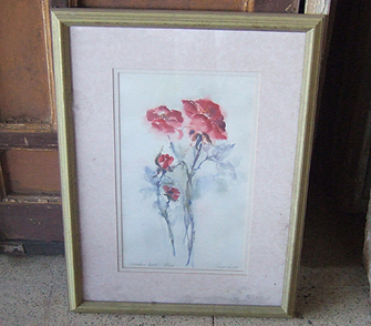 Victorian rose watercolor - $45