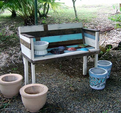 Rustic garden bench- $175