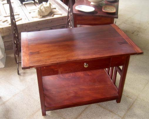 Craftsman Mahogany Coffee table with drawer