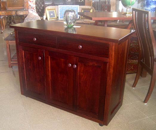 Solid Quira Sideboard on rollers