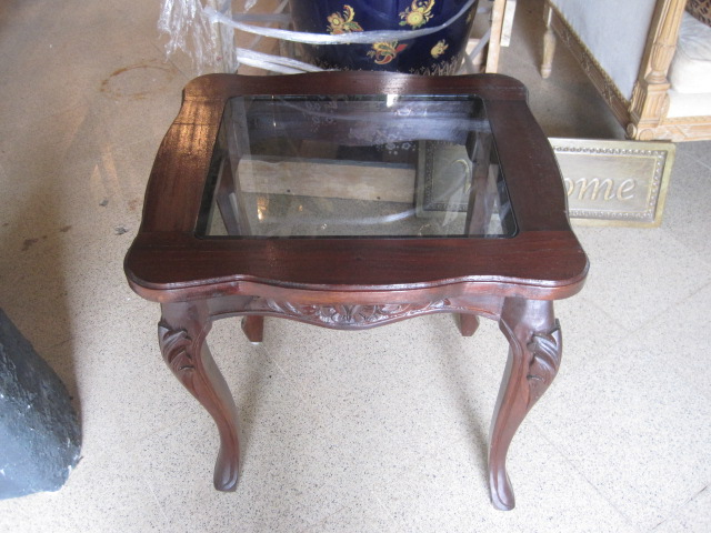 Queen Anne style sidetables (2)