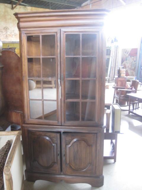 English Oak Corner cabinet
