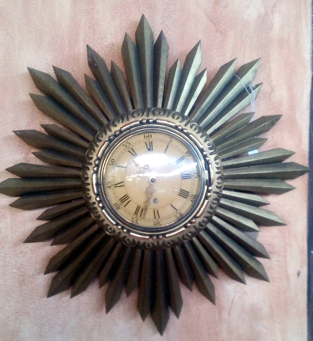 Swedish Deco Sunburst Clock