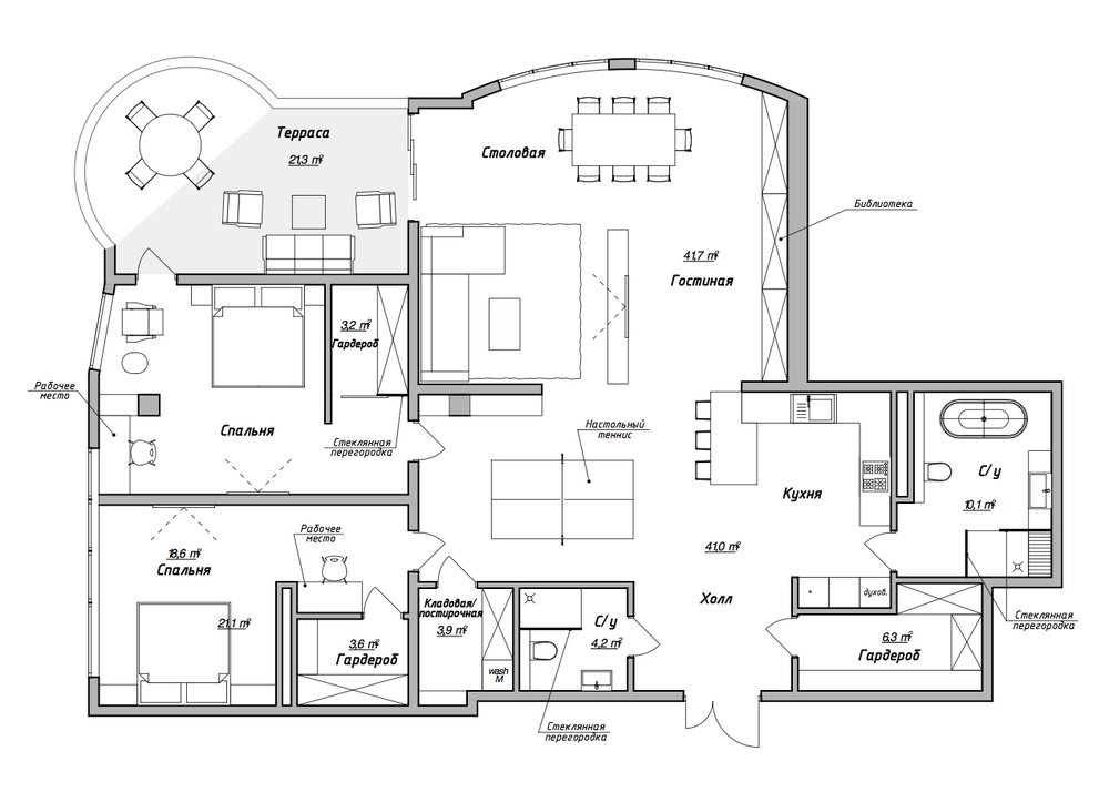 ПРОЕКТ - Базовый проект* + разработка визуализации на основе выбранных и утвержденных предметов мебели, осветительных приборов, текстильного оформления. Составление бюджета и спецификация по предметам мебели и отделочным материалам.Сроки подачи: 1 месяц (визуализация около 2х недель)Стоимость работ: от $25/м2