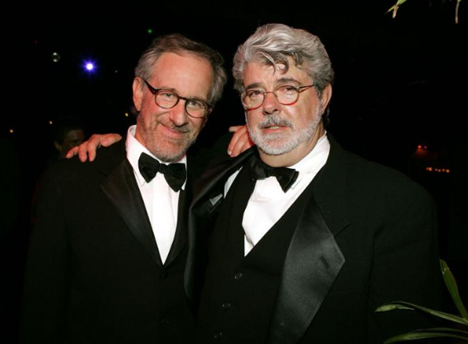 Steven Spielberg and George Lucas (Image from blastr.com)